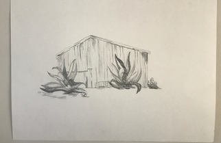 Elizabeth Griffith; corrugated tin, 2017, Original Drawing Graphite, 24 x 18 inches.