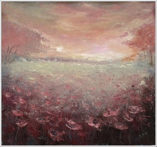Emilia Milcheva; ENDLESSLY original acryli..., 2016, Original Painting Acrylic, 56 x 53 cm. Artwork description: 241 Another ode of mine to the endless beauty of the nature. I chose mat compound colors to create a rustic look for this painting. Blooming field that recedes into the horizon to meet the last light of the day. And a colorful dramatic sky tinted by the ...