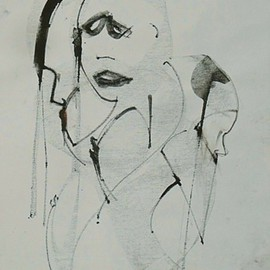 Emilio Merlina, , , Original Drawing Charcoal, size_width{and_this_it_is_another_story-1441173218.jpg} X 70 cm