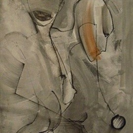 Emilio Merlina, , , Original Drawing Charcoal, size_width{endless_sequence_if_instants_-1383419154.jpg} X 120 cm