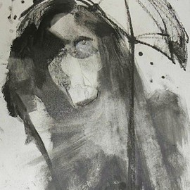 Emilio Merlina, , , Original Drawing Charcoal, size_width{for_a_rainy_day-1441202414.jpg} X 45 cm