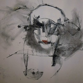 Emilio Merlina, , , Original Drawing Charcoal, size_width{stronger_than_me-1352974561.jpg} X 48 cm