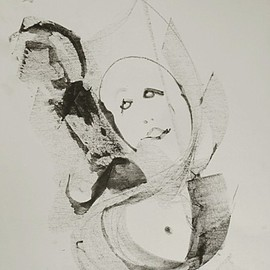 Emilio Merlina, , , Original Drawing Charcoal, size_width{the_fly-1440432638.jpg} X 64 cm