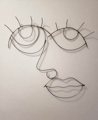 Emily Quackenbush; Sugar Lips, 2020, Original Sculpture Steel, 1 x 2 feet. Artwork description: 241 abstract face, hand sculpted then welded...