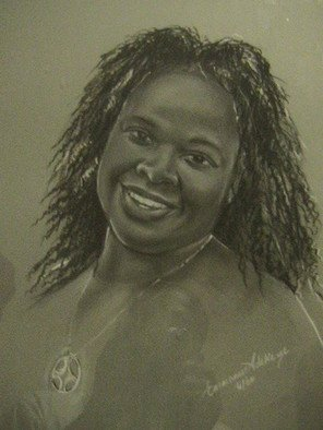 Emmanuel Adekeye; Omo1, 2008, Original Drawing Charcoal, 20 x 18 inches. Artwork description: 241  A portrait of my wife ...
