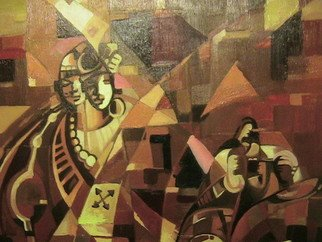 Emmanuel Adekeye; Wedding Feast , 2004, Original Painting Oil, 24 x 20 inches. Artwork description: 241  Traditional African wedding ...
