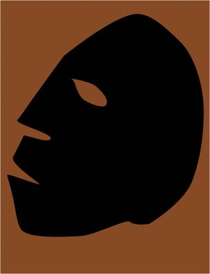 Edward  Ribak; Masque, 2013, Original Digital Art, 8 x 10 inches. Artwork description: 241  Vector Image created in Adobe Illustrator. Laser Print 600 DPIScalable. . .   ...