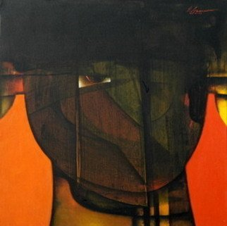 Eric Genao; ROSTRO, 2008, Original Painting Acrylic, 28 x 28 inches.
