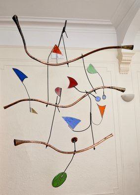 Eric Jacobson; Horns And Flags, 2015, Original Sculpture Other, 50 x 72 inches. Artwork description: 241 This is an abstract constructed sculpture.  It is inspired by music.  It is also inspired by abstract painting such as that of Kandinsky. ...