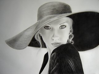 Eric Stavros; Blonde Elegance, 2010, Original Drawing Pencil,   cm. Artwork description: 241  about 25 hours, on A2 size schoeller 160gr smooth paper, graphite mechanical pencils 2H to 2B, faber castell regular pencils 3H to 8B. blending tissue, stumps kneaded and regular erasers.   ...