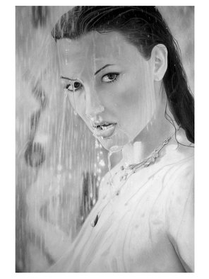 Eric Stavros; Wet Dreams, 2010, Original Drawing Pencil,   cm. Artwork description: 241  graphite regular pencils 2H to 8B, mechanical pencils 2H to 2B.Schoeller 160gr, 60x42 cm smooth surface paper.35- 40 happy hours. . .  ...