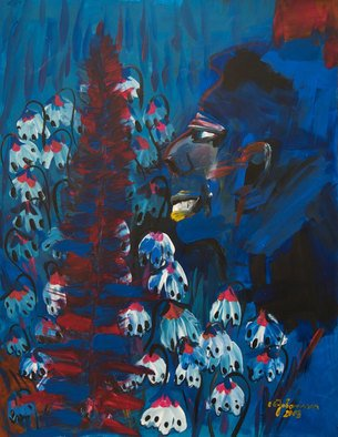 Erika G. Johannsson; Child Soldier, 2011, Original Painting Acrylic, 50 x 64 cm. Artwork description: 241   Acryl on Paper          ...