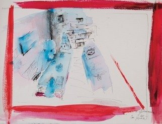 Erika G. Johannsson; Das Gespraech, 2011, Original Mixed Media, 37 x 29 cm. Artwork description: 241   Mixed technique on Paper     ...