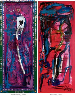 Erika G. Johannsson; Diva, 2010, Original Painting Acrylic, 40 x 100 cm. Artwork description: 241      Acryl on Wood            ...