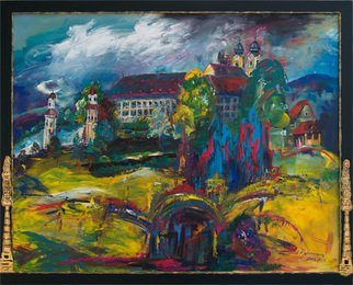 Erika G. Johannsson; Stainz Castle, 2003, Original Painting Acrylic, 95 x 75 cm. Artwork description: 241     Acryl on Canvas           ...