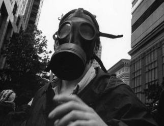 Erik Hoynes; WTO RIOTS 0429, 2004, Original Photography Black and White, 1 x 1 inches. Artwork description: 241 sizes are 11x14 13x19 20x24 24x30...