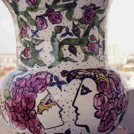 Ellen Safra, , , Original Ceramics Other, size_width{City_Series_Six-1049488674.jpg} X 15 inches