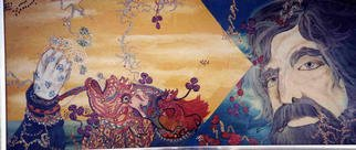 Ellen Safra; Natural Enchantment, 1998, Original Painting Oil, 36 x 16 inches.