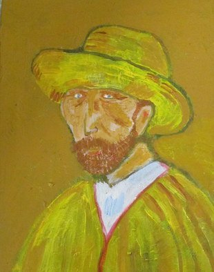 Evie Tirado; Portrait Of Vincent, 2014, Original Painting Acrylic, 11 x 14 inches. Artwork description: 241   abstract acrylic van gogh  ...