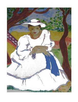 Evie Tirado; Woman In White, 2009, Original Printmaking Giclee, 16 x 20 inches. Artwork description: 241   printed on high quality photo paper ...