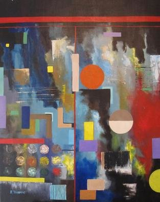 Evangelos Tzavaras; Untitled, 2013, Original Painting Acrylic, 70 x 100 cm. Artwork description: 241  Abstract symmetry ...