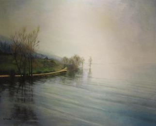 Evangelos Tzavaras; Winter Landscape, 2013, Original Painting Acrylic, 80 x 100 cm. Artwork description: 241  A calm winter landscape    ...