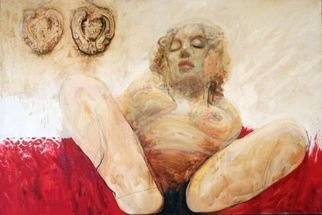 Eugen Varzic; BIRTH, 2007, Original Mixed Media, 150 x 100 cm. Artwork description: 241  From the Enfer et paradis opus ...