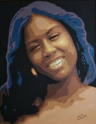 Evon Johnson; Jeniece, 2014, Original Painting Acrylic, 16 x 20 inches. Artwork description: 241 Portrait of my niece. ...
