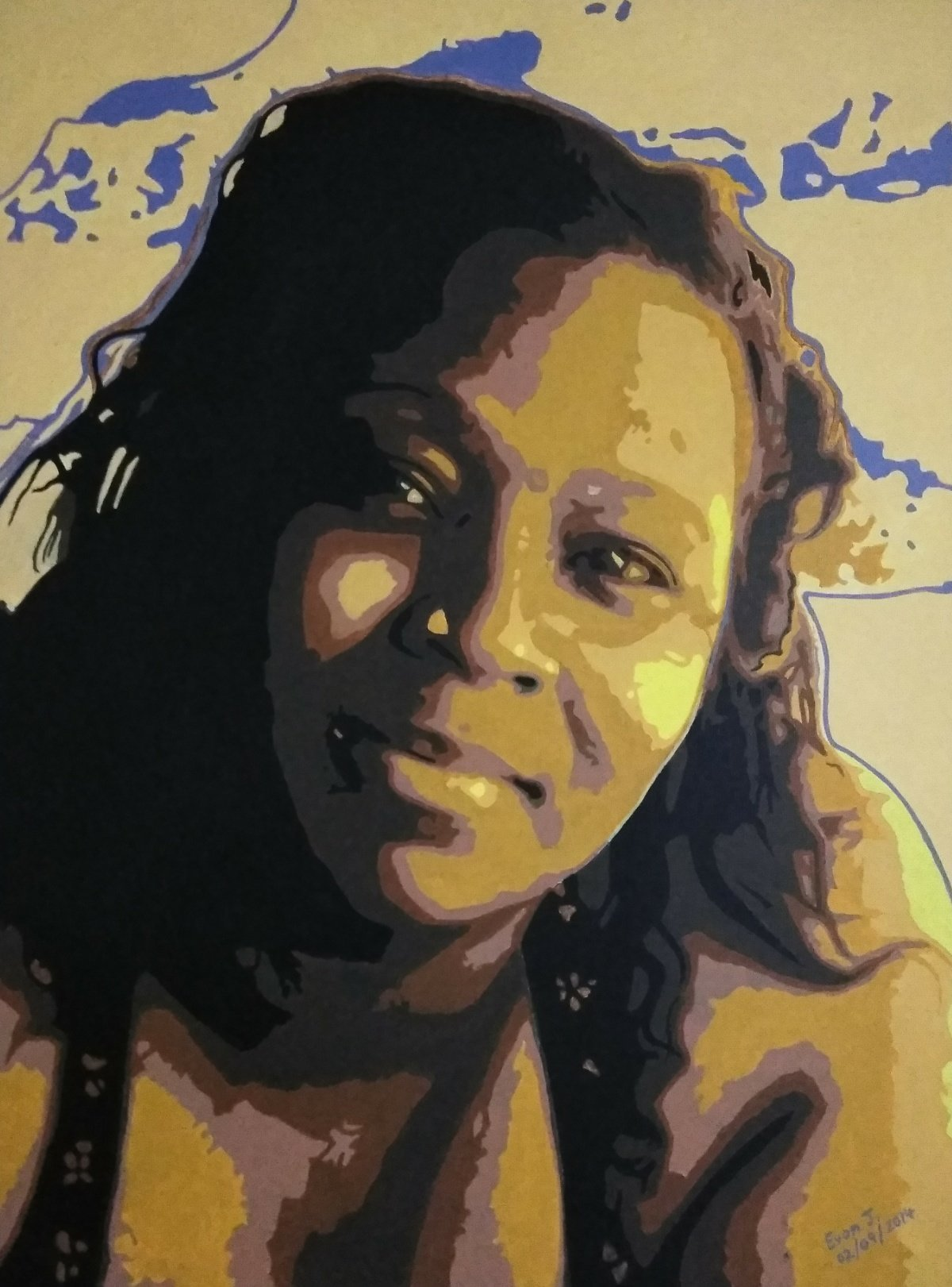 Evon Johnson; Imelda, 2014, Original Painting Acrylic, 18 x 24 inches. Artwork description: 241 Portrait of Imelda. ...