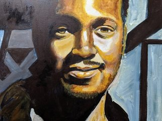 Evon Johnson; Self Portrait, 2005, Original Painting Acrylic, 20 x 16 inches. Artwork description: 241 Self portrait...