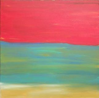 Jennifer Schumacher; Redscape, 2012, Original Painting Acrylic, 1.5 x 30 inches.