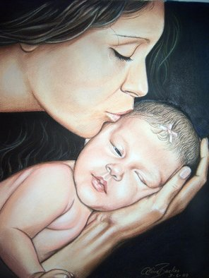 Aline Backes; A Mothers Love, 2009, Original Pastel, 14 x 17 inches.
