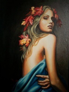 Manuela Facchin Varalda; Fall S Muse, 2007, Original Painting Oil, 20 x 28 inches. Artwork description: 241  original artwork unique pieceoil on canvascm 50 x 70 ...
