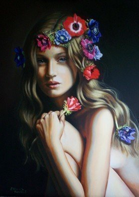 Manuela Facchin Varalda; Spring S Muse, 2008, Original Painting Oil, 20 x 28 inches. Artwork description: 241  original artwork unique piece oil on canvascm 50 x 70 ...
