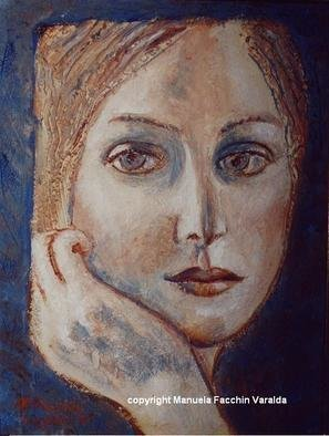 Manuela Facchin Varalda; The Face, 2001, Original Painting Acrylic, 12 x 16 inches. Artwork description: 241  original artwork unique piece acrylicon faesite ...