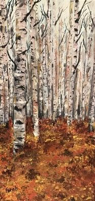 Farah Ravazadeh; October, 2016, Original Painting Oil, 6 x 12 inches. Artwork description: 241 Autumn has always been my favorite season. The time when everything bursts with it s last beauty, as if nature had been saving up all year for the grand finale. 3- sided Oil painting. Collage ...