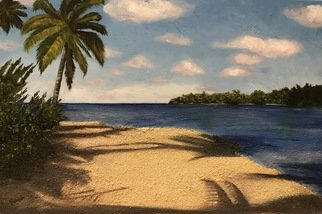 Farah Ravazadeh; Sunny Beach, 2016, Original Painting Oil, 36 x 24 inches. Artwork description: 241 Sunny Beach painted by knife using painting oil and real sand. ...