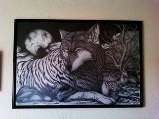 Alejandro Jake; Final Worlf Drawing, 2011, Original Drawing Pencil, 40 x 27 inches. Artwork description: 241  Final concept of my Wolf Drawing ...