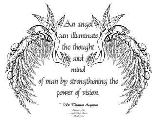 Alejandro Jake; Typography Angel Wingz Quote, 2011, Original Other, 11 x 11 inches. Artwork description: 241  Typography of Angel Wings wrapped around a Quote ...