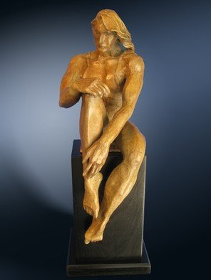 Felix Velez, The thinker, 2009, Original Sculpture Bronze, size_width{the_thinker-1487301010.jpg} X 25 x  inches