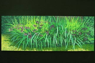 Stephen Fessler; Purple Lilies, 2011, Original Painting Oil, 64 x 24 inches. Artwork description: 241        A profusion of purple lilies. ...