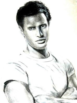 J P; Stanley, 2006, Original Drawing Charcoal, 18 x 24 inches. Artwork description: 241  This is a charcoal and graphite drawing of Marlon Brando as Stanley Kowalski from the film Streetcar Named Desire. ...