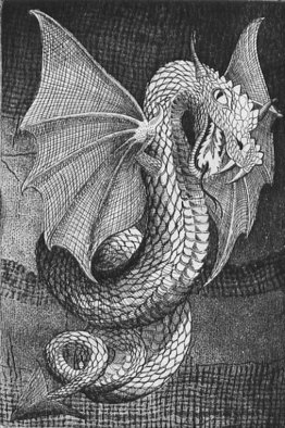 Bob Filbey; Basilisk, 1989, Original Printmaking Etching, 9 x 12 inches. Artwork description: 241   Also available tinted by watercolor ( $275) ....