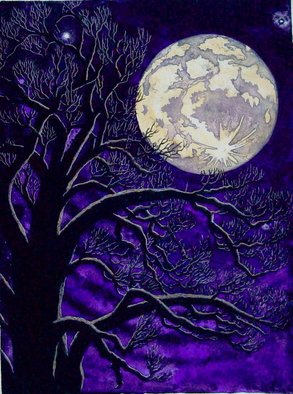 Bob Filbey; Storybook Moon, 1989, Original Printmaking Lithography, 15 x 22 inches. Artwork description: 241  Also available as a handpulled lithograph in black and white ( $175) . ...