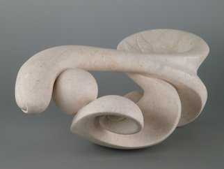 Valter Fingolo; Segno, 2012, Original Sculpture Stone, 45.5 x 22.5 cm. Artwork description: 241 Sculpture nade by Cansiglio Stone; widht, height, depth are outdated definitions in this tipe of sculpture because sculture can be rolled in any direction : it has no base ...