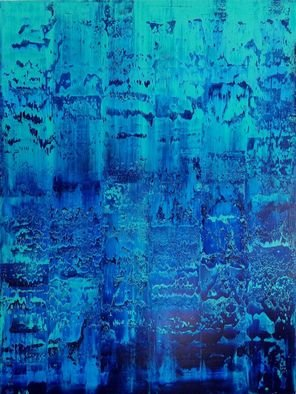 Paulo Flatau; Gerhard Richter Tribute, 2017, Original Painting Acrylic, 30 x 40 inches. Artwork description: 241 Inspired by Gerhard Richter. Blue colors originated from pure pigments with the power to bring vitality to any environment. ...