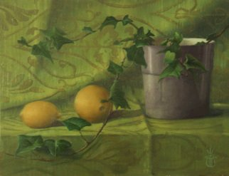 David Thompson; Ivy And Lemon, 2012, Original Painting Oil, 14 x 18 inches. Artwork description: 241 Oil on linen...