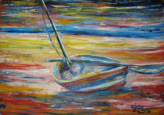 Franklin Ojoo; Lamu Dhow2, 2016, Original Painting Oil, 24 x 18 inches. Artwork description: 241 Oil paint on canvas of an old Lamu Dhow...
