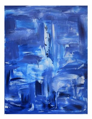 Frances Bildner; Tears, 2020, Original Painting Acrylic, 36 x 48 inches. Artwork description: 241 Tears is an emotional piece with fluid brushstrokes. The light blues show that these tears are temporary and  this too shall pass ...