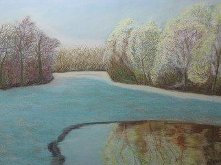 Freddy Raaffels; Winter, 2008, Original Pastel, 65 x 45 cm.